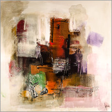 Stampa su plexi-alluminio  Abstract painting on canvas - modern and contemporary - Michael artefacti