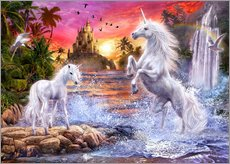 Stampa su plexi-alluminio  Unicorn Waterfall Sunset - Jan Patrik Krasny