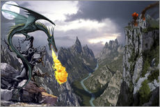 Adesivo murale  Dragon valley - Dragon Chronicles