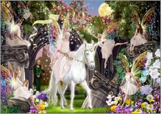 Adesivi murali  Fairy Queen with Unicorn - Garry Walton