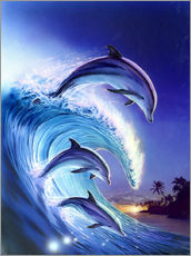 Adesivo murale  Riding the wave - Robin Koni