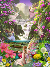 Stampa su plexi-alluminio  Waterfall fairies - Garry Walton