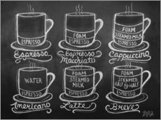 Adesivo murale  Coffee Cups - Lily & Val