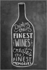 Adesivo murale  Finest Wines - Lily & Val