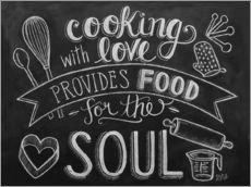 Stampa su plexi-alluminio  Cooking With Love - Lily & Val