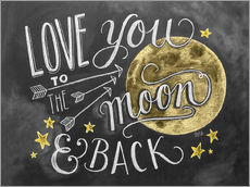 Adesivo murale  Love you to the moon - Lily & Val