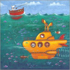 Adesivo murale  Yellow Submarine - Peter Adderley