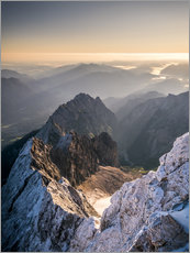 Andreas Wonisch - View over the Alps from Zugspitze