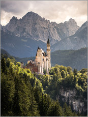 Adesivo murale  Neuschwanstein Castle in front of the Alps - Andreas Wonisch