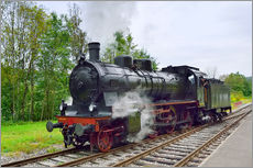 Adesivo murale  Old Steam Locomotive in the Black Forest - FineArt Panorama