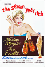 Stampa su plexi-alluminio  THE SEVEN YEAR ITCH, Marilyn Monroe, Tom Ewell