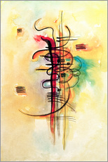 Adesivi murali  Watercolor no. 326 - Wassily Kandinsky