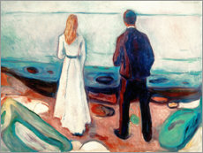 Stampa su plexi-alluminio  Two people. The lonely - Edvard Munch