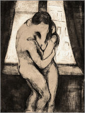 Adesivi murali  The Kiss - Edvard Munch