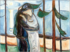 Stampa su vetro acrilico  Kiss on the beach - Edvard Munch