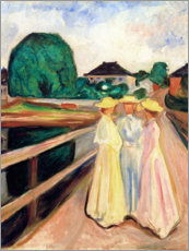 Stampa su alluminio  Girls on the pier - Edvard Munch