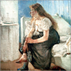 Stampa su legno  Girl on the bed - Edvard Munch