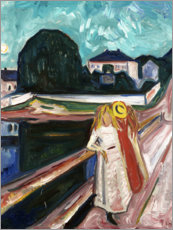 Stampa su tela  The Girls on the Bridge - Edvard Munch