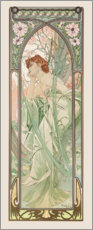 Stampa su alluminio  Evening Contemplation, Times of the Day series - Alfons Mucha