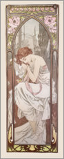 Stampa su alluminio  Night's Rest, Times of the Day series - Alfons Mucha