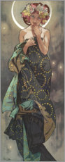 Adesivi murali  The moon - Alfons Mucha