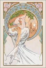 Stampa su plexi-alluminio  The Arts - Poetry - Alfons Mucha