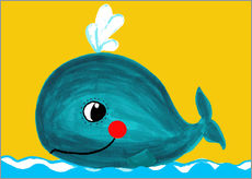 Adesivi murali  Frida, the friendly whale - Little Miss Arty