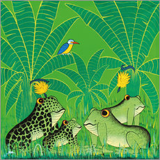 Adesivo murale  Frogs in the swamp - Issa