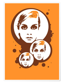 Poster Premium Twiggy Mathmos Orange