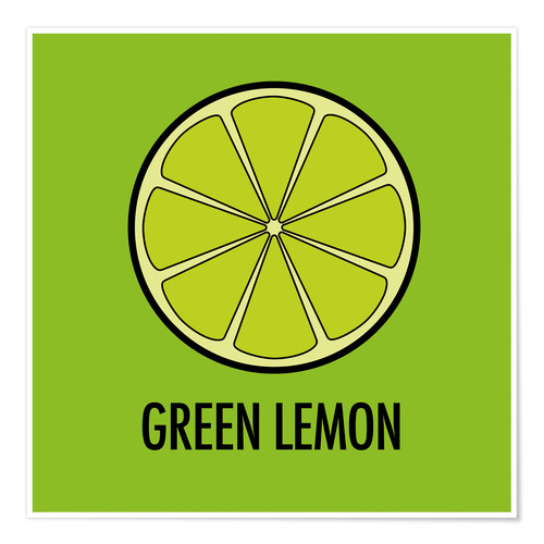 Poster Premium Green Lemon Juice