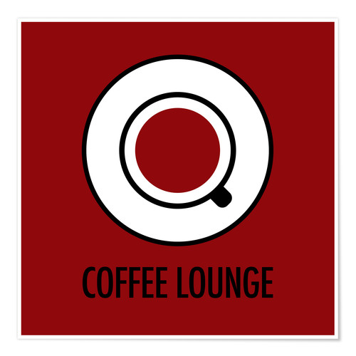 Poster Premium Coffee Lounge, brown