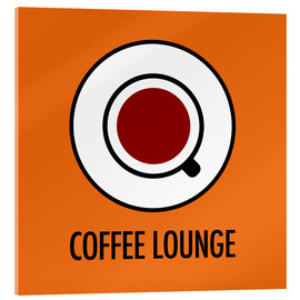 Vetro acrilico  Coffee Lounge, orange - JASMIN!