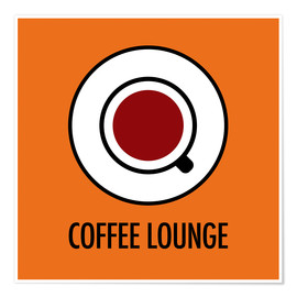 Poster Premium Coffee Lounge, orange