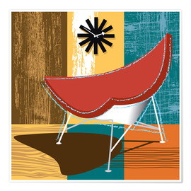 Poster Premium coconut chair