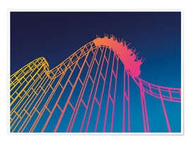 Poster  rollercoaster - David Fairfield