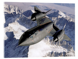 Vetro acrilico  SR-71B Blackbird in Flight - Stocktrek Images