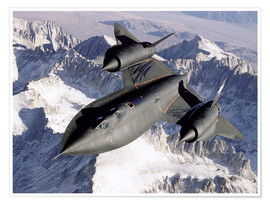 Poster Premium  SR-71B Blackbird in Flight - Stocktrek Images