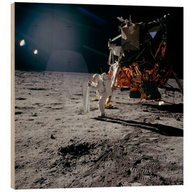 Stampa su legno  Apollo 11 Moon Walk - Stocktrek Images