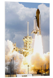 Stampa su schiuma dura  Space shuttle Atlantis launches
