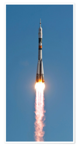 Poster Premium The Soyuz TMA-18 rocket