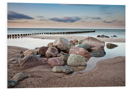 Forex  Stones and groynes on shore of the Baltic Sea. - Rico Ködder