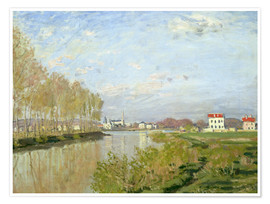 Poster Premium The Seine at Argenteuil