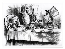 Poster Premium  The Mad Hatter's Tea Party - John Tenniel