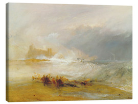 Tela  Wreckers - Coast of Northumberland - Joseph Mallord William Turner