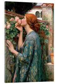 Vetro acrilico  Anima della rosa - John William Waterhouse