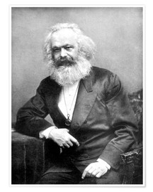 Poster  Portrait of Karl Marx - English Photographer