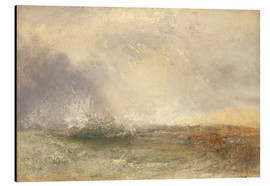 Alluminio Dibond  Stormy Sea Breaking on a Shore - Joseph Mallord William Turner