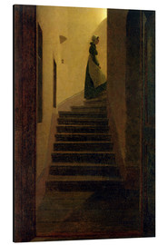Stampa su alluminio  Caroline on the stairs - Caspar David Friedrich