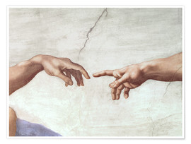 Poster  The Creation of Adam (Detail) - Michelangelo