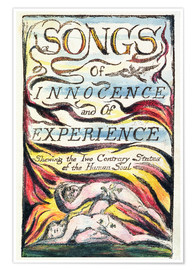 Poster Premium Songs of Innocence and of Experience